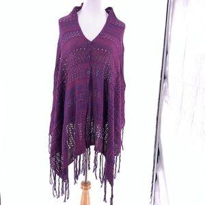 Lularoe Mimi Knit Purple Shawl One Size
